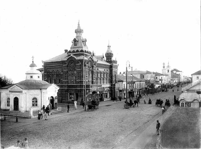 Центр Владимира на чернобелой фотографии