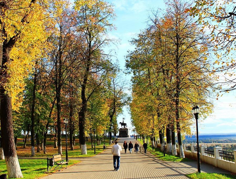 Город Владимир. Парк сквер А.С. Пушкина