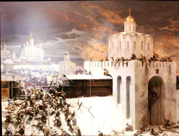Диорама «Штурм Владимира войском хана Батыя в феврале 1238 г.»; автор Е.И. Дешалыт. (ВСМЗ)