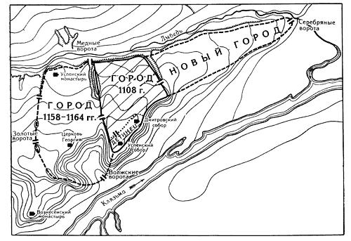 План города Владимира по Н.Н. Воронину