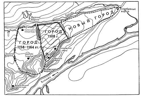 План Древнего Владимира
