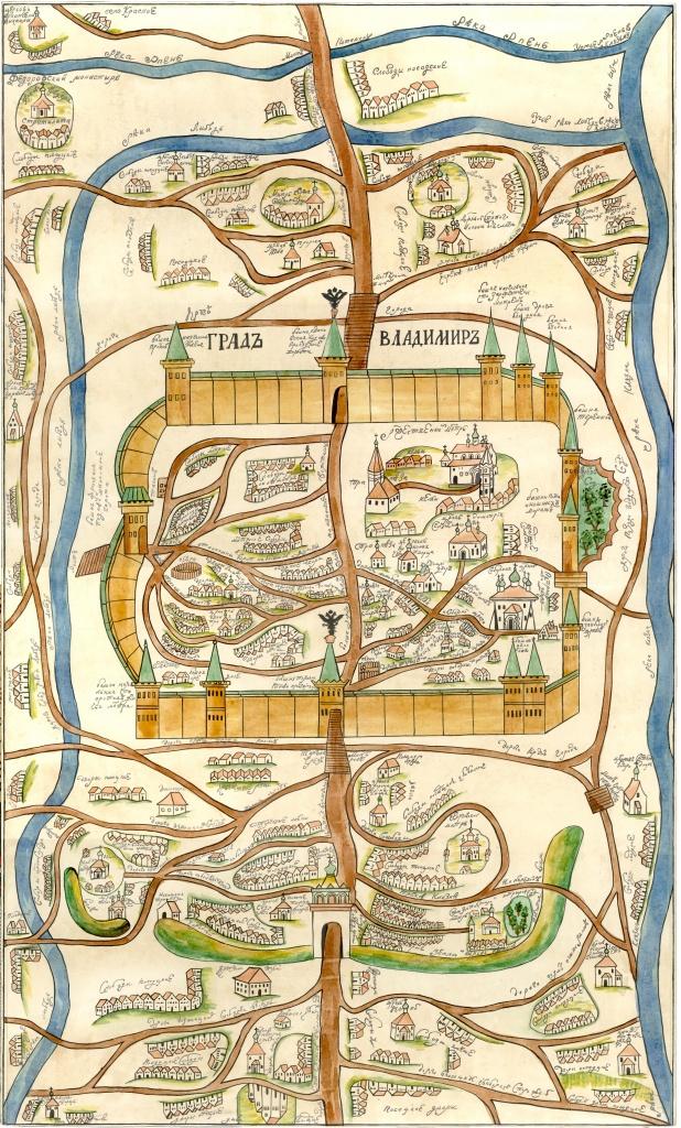 План г. Владимира, составленный в XVIII веке
