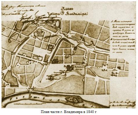 План части Владимира в 1840 г.