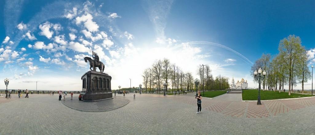 Панорама парка Пушкина. Фотограф - Роман Баринов.